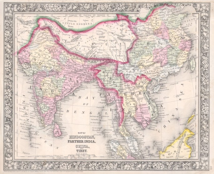 -Penhaligons-1864_Mitchell_Map_of_India,_Tibet,_China_and_Southeast_Asia_-_Geographicus_-_India-mitchell-1864