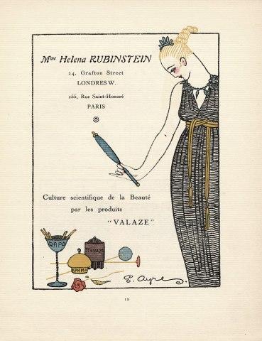 una pubblicità del 1921 di Helena Rubinstein