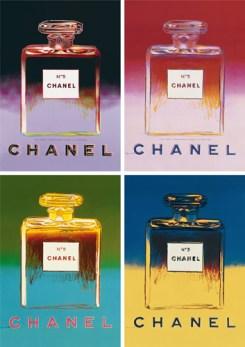 """""""Ads: Chanel"""", una serie di serigrafie di Andy Warhol ispirate alla pubblicità del profumo apparse fra il 1954 e il 1956"""