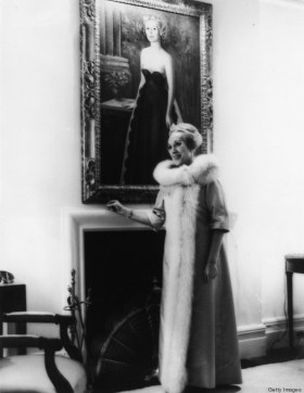 Portrait Of Estee Lauder At Home