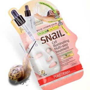 Маска с экстрактом улитки Purederm Snail Cell Illuminating Multi-Step Treatment