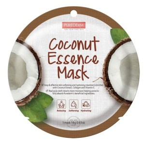 ТКАНЕВАЯ МАСКА ДЛЯ ЛИЦА КОКОС PUREDERM COCONUT ESSENCE MASK