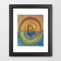 The Eternal Now Painting Background_framed print mockup