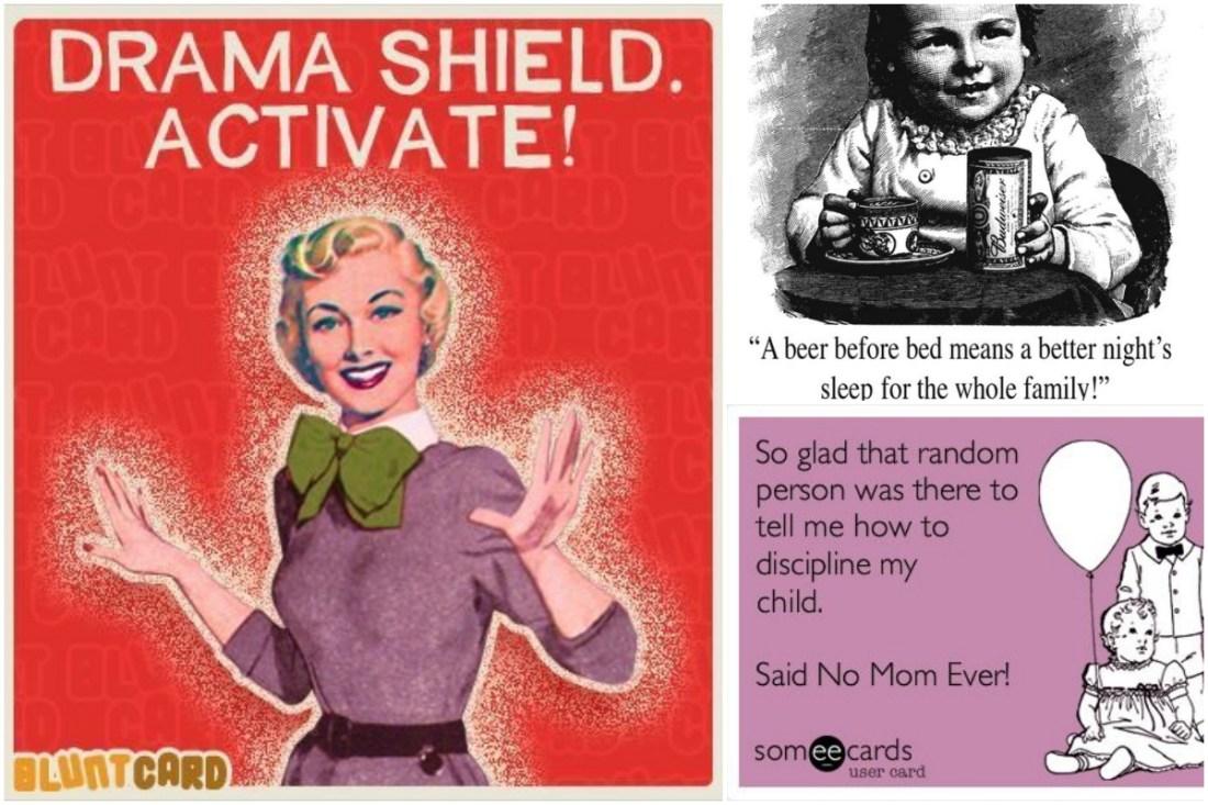 Ретро картички с цитати от една майка.