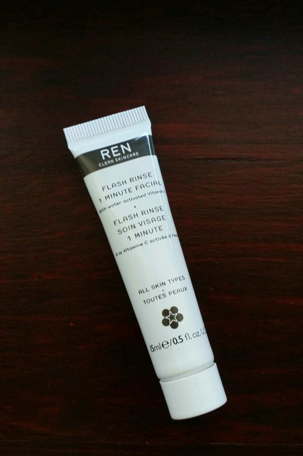 REN ~ Flash Rinse 1 Minute Facial Review
