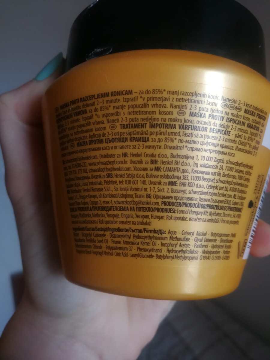 schwarzkopf gliss oil nutritive hair repair