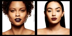 Mac Berry Matte Lipsticks Plum Dark Model