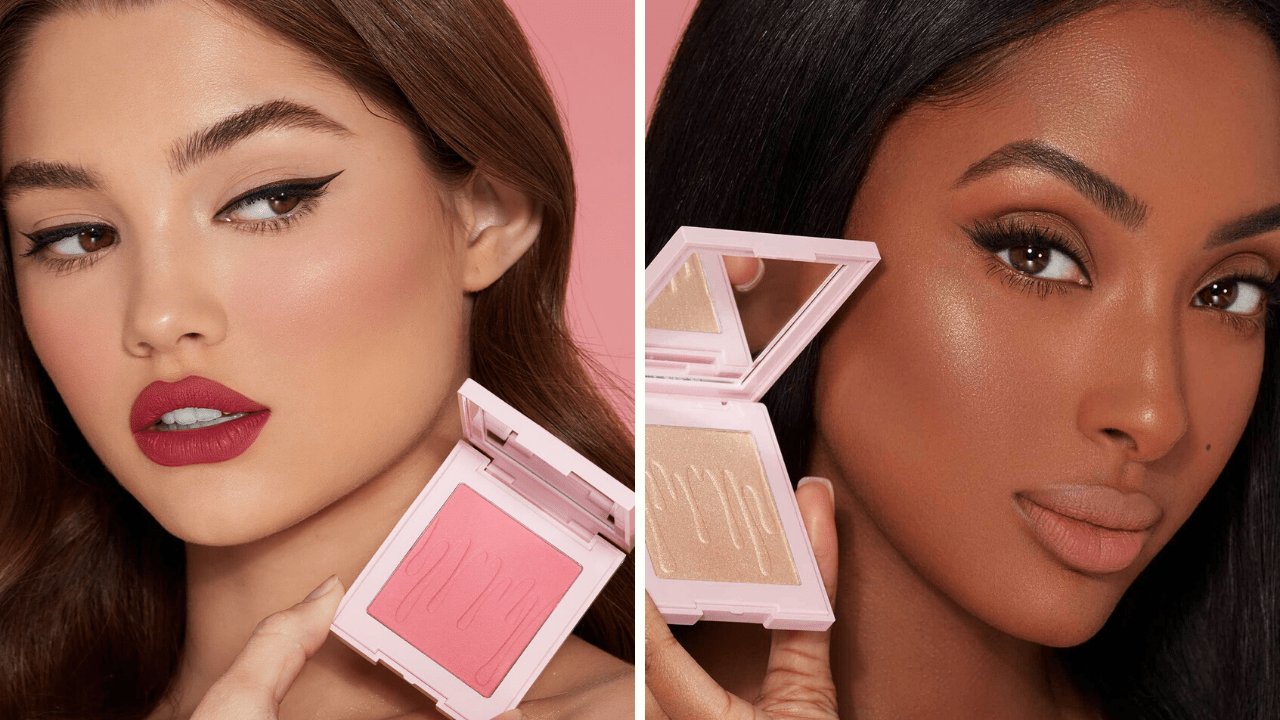 Kylie Cosmetics Sunday Brunch Kylighter and Pink Dreams Blush