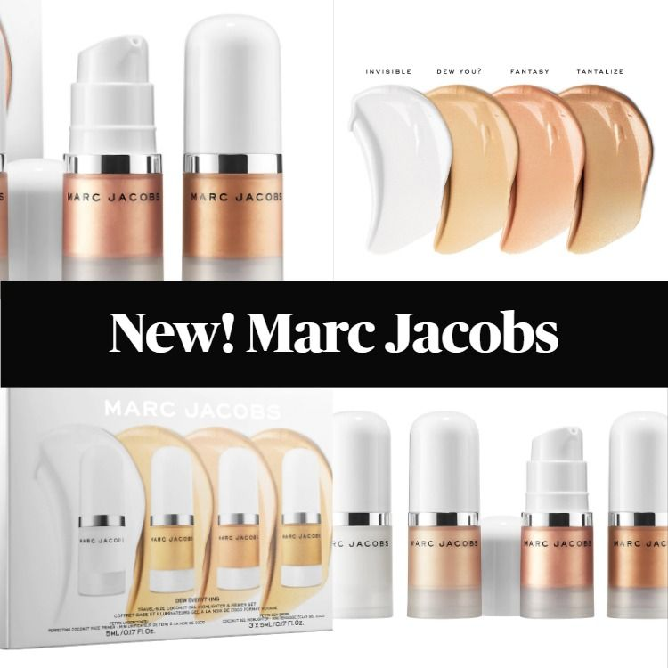 New! Marc Jacobs Dew Everything Mini Coconut Gel Highlighter and Primer Set