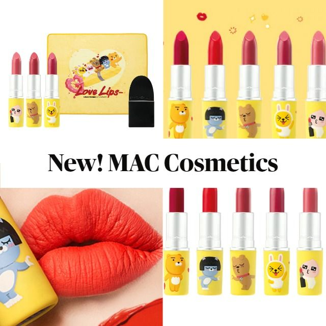 New! MAC Kakao Friends Love Lips Collection