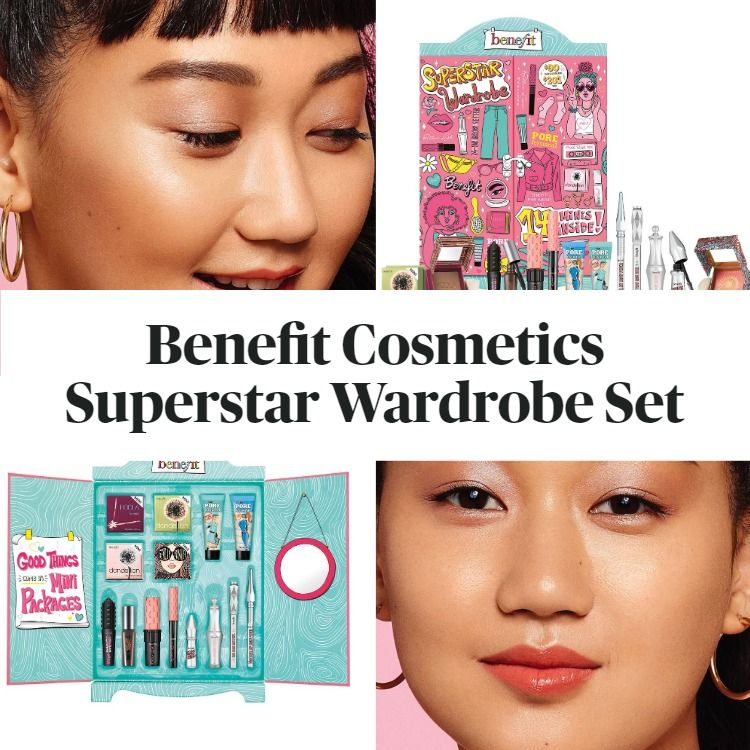 New! Benefit Cosmetics Mini Superstar Wardrobe Makeup Value Set