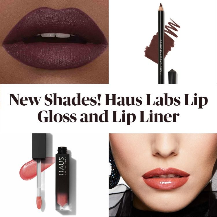 New Shades! Haus Labs Le Riot Lip Gloss and RIP Lip Liners