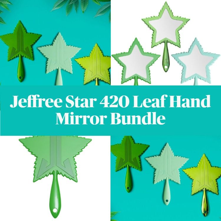 New! Jeffree Star Leaf Hand Mirror Bundle