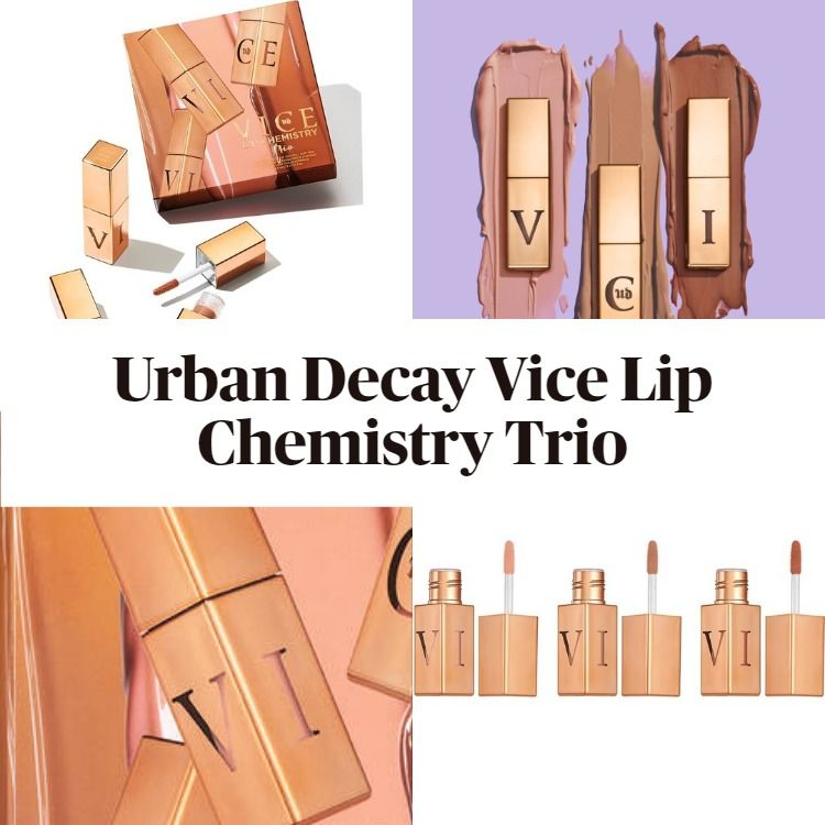 New! Urban Decay Vice Lip Chemistry Trio - Mother's Day Limited Edition