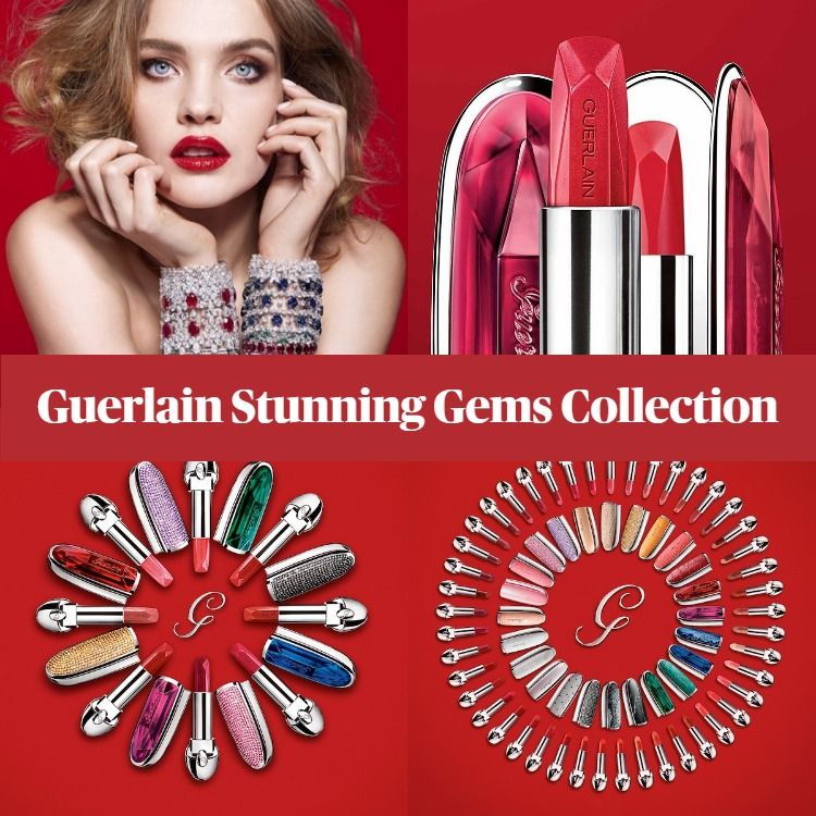 New! Guerlain Rouge G Stunning Gems Lipstick Collection