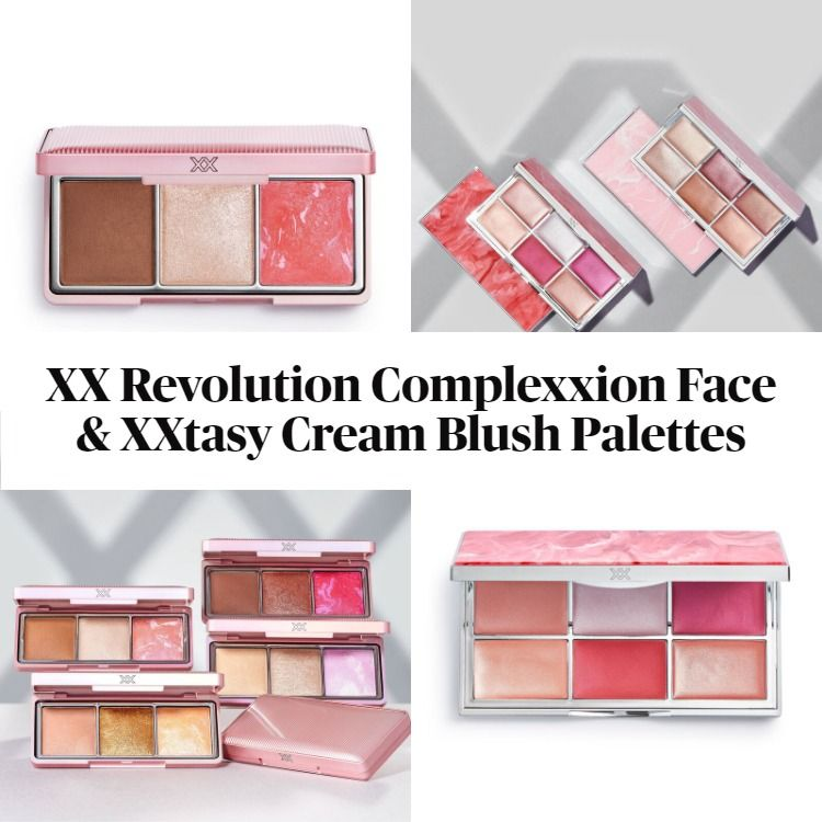 New! XX Revolution Complexxion Face Palettes and XXtasy Cream Complexxion Blush Palettes