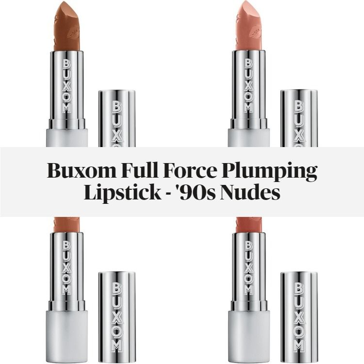 New! Buxom Full Force Plumping Lipstick - '90s Nudes