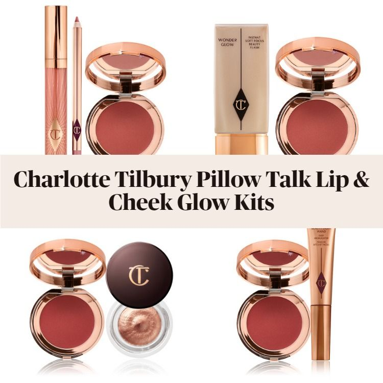 New! Charlotte Tilbury Pillow Talk Lip & Cheek Glow Kits