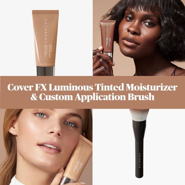 New! Cover FX Luminous Tinted Moisturizer And Custom Application Brush