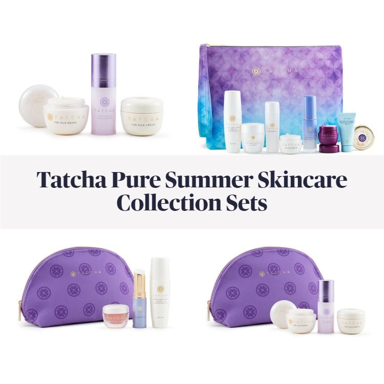 New! Tatcha Pure Summer Skincare Collection Sets