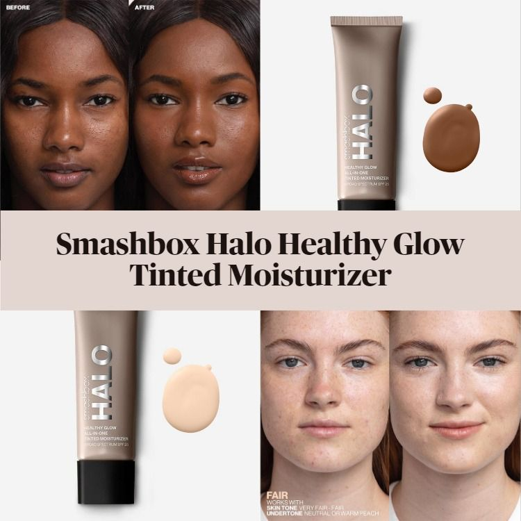 New! Smashbox Halo Healthy Glow Tinted Moisturizer