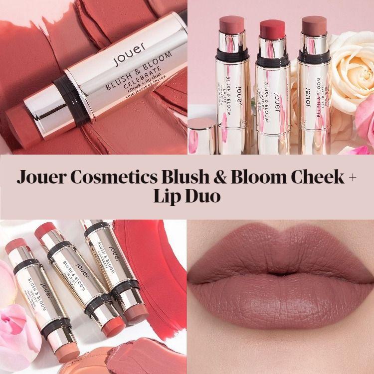 New! Jouer Cosmetics Blush & Bloom Cheek + Lip Duos