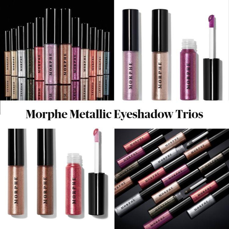New! Morphe Metallic Eyeshadow Trios