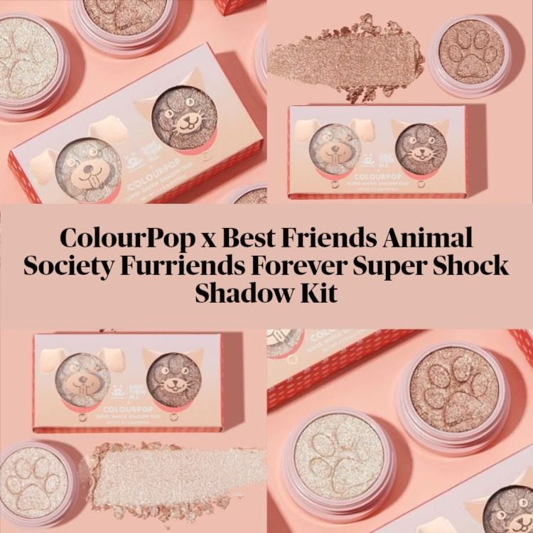 ColourPop x Best Friends Animal Society Furriends Forever Super Shock Shadow Kit