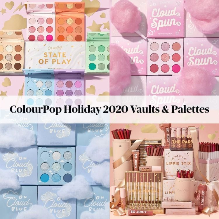 Sneak Peek! ColourPop Holiday 2020 Vaults Featuring Brand New Eyeshadow Palettes