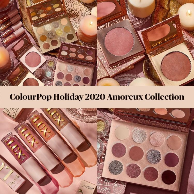 Sneak Peek! ColourPop Holiday 2020 Amoreux Collection - Updated!