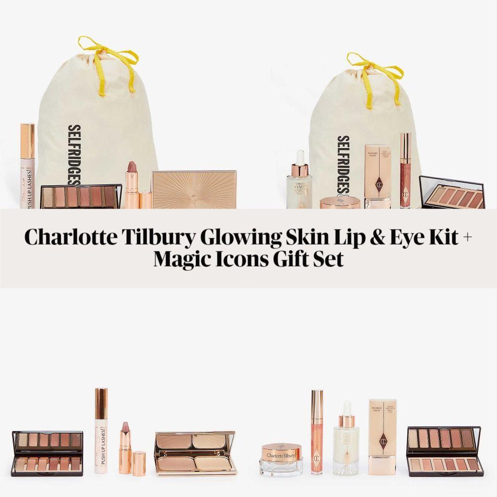 Charlotte Tilbury Glowing Skin Lip & Eye Kit and Magic Icons Gift Set