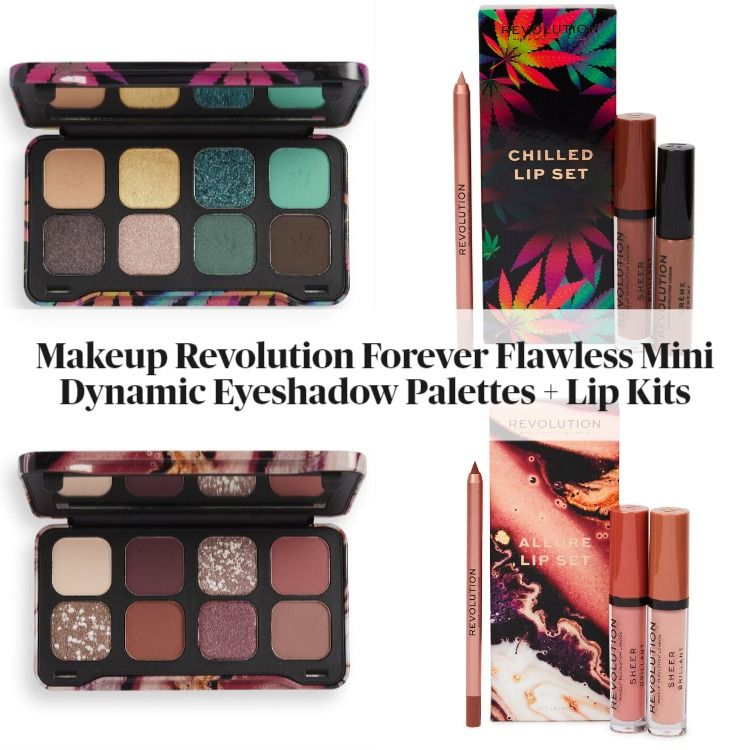 Makeup Revolution Forever Flawless Mini Dynamic Eyeshadow Palettes and Lip Kits