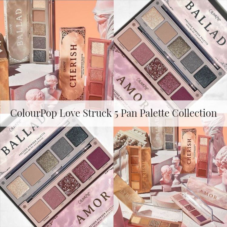 Sneak Peek! ColourPop Love Struck 5 Pan Palette Collection