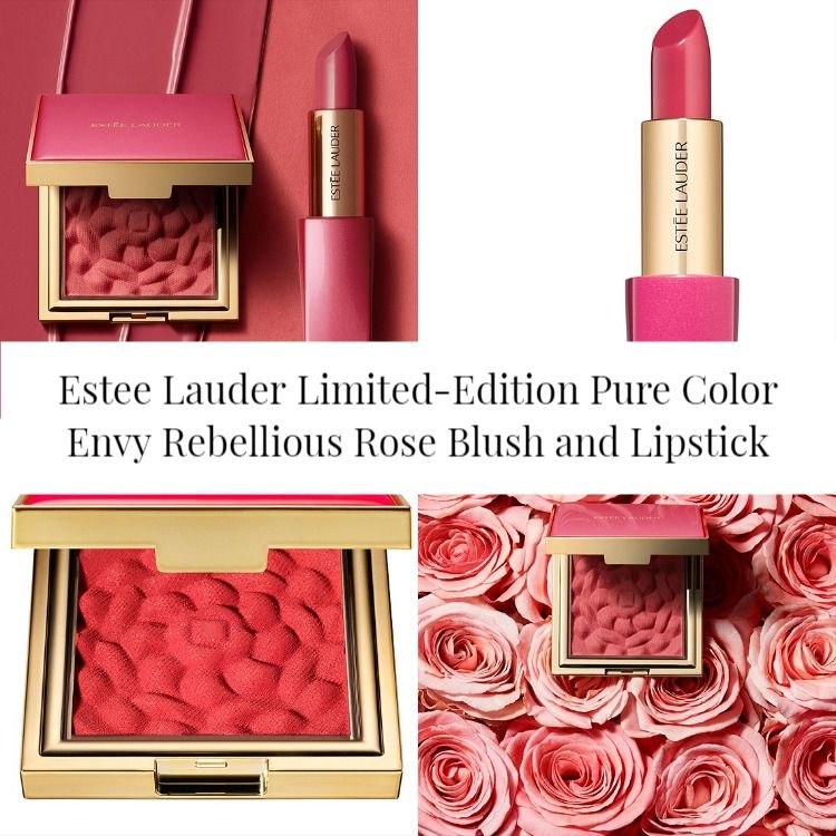 Estee Lauder Limited-Edition Pure Color Envy Rebellious Rose Blush and Lipstick