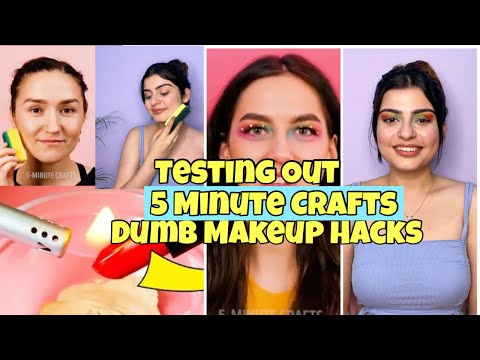 """Checking out Out Viral """"Dreary"""" Makeup Hacks by 5 Minute Crafts