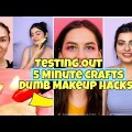 """Checking out Out Viral """"Dreary"""" Makeup Hacks by 5 Minute Crafts  Yashita Rai"""