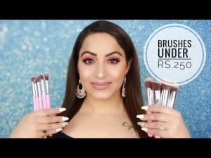 Burly face of Make-up utilizing Amazon Brushes Below Rs. 250 HINDI