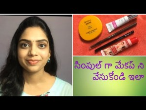 Clear-slash Everyday Makeup for Begginers in Telugu