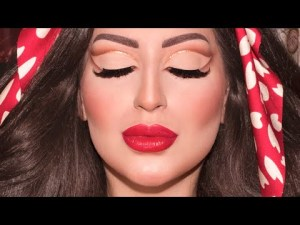 Soft Honest Lower Crease Glitter + Crimson Lips Make-up Tutorial | Melissa Samways