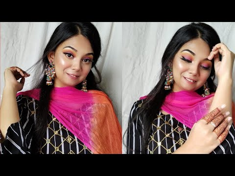 Colourful summer make-up tutorial   Like a flash And Easy Makeup Tutorial   Magnificence And Makeup Vlog