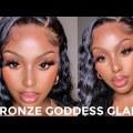 Flawless Bronze Glam || My NEW Lightweight Foundation Routine + Brown Smokey Liner | SEPHORA HAUL