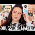 FULL FACE OF DRUGSTORE & AFFORDABLE MAKEUP FALL EDITION! ColourPop It's a Mood Palette