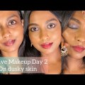 Traditional Crimson Lips Make-up on Dark Pores and skin || Indian Festive Make-up Series