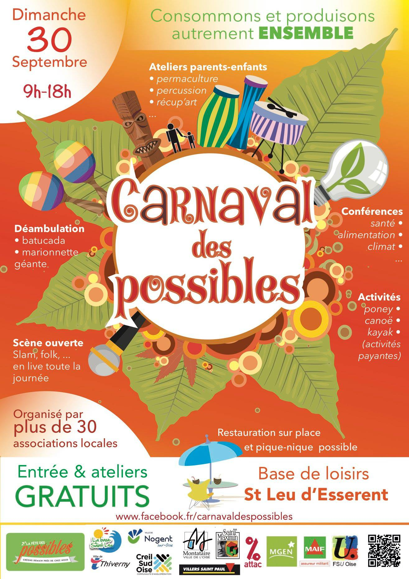 Le Carnaval des Possibles samedi 30 septembre à Saint-Leu-d'Esserent