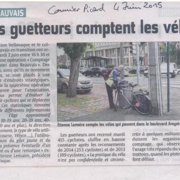 Opération «Comptage de vélos» de Vellovaque