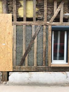 Ateliers d'éco-construction 2018 :  remplissage entre pans de bois @ Bonnières