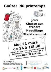 Goûter du printemps à St Lucien @ Site de compostage St Lucien  | Beauvais | Hauts-de-France | France