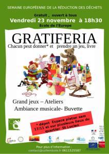 Gratiferia  des  jeux,  jouets et livres @ Ecole de l'Europe