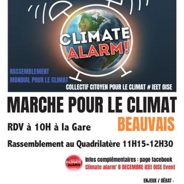 Marche pour le climat le 8 décembre à Beauvais
