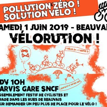 Une Vélorution à Beauvais samedi 1er juin 2019. Vous êtes tous invités !